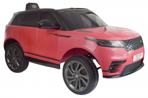 Masinuta electrica Premier Range Rover Velar, 12V, roti cauciuc EVA, scaun piele ecologica, roz [10]