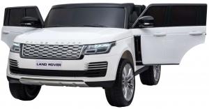 Masinuta electrica Premier Range Rover Vogue HSE, 12V, 2 locuri, roti cauciuc EVA, scaun piele ecologica, alb9