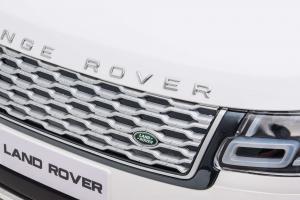 Masinuta electrica Premier Range Rover Vogue HSE, 12V, 2 locuri, roti cauciuc EVA, scaun piele ecologica, alb23