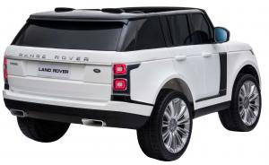Masinuta electrica Premier Range Rover Vogue HSE, 12V, 2 locuri, roti cauciuc EVA, scaun piele ecologica, alb6