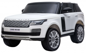 Masinuta electrica Premier Range Rover Vogue HSE, 12V, 2 locuri, roti cauciuc EVA, scaun piele ecologica, alb16