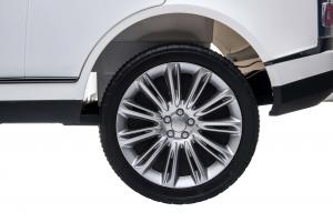 Masinuta electrica Premier Range Rover Vogue HSE, 12V, 2 locuri, roti cauciuc EVA, scaun piele ecologica, alb18