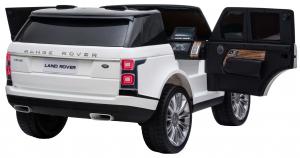 Masinuta electrica Premier Range Rover Vogue HSE, 12V, 2 locuri, roti cauciuc EVA, scaun piele ecologica, alb13