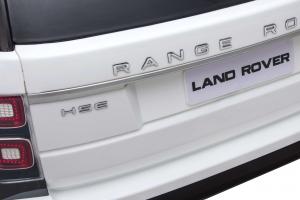 Masinuta electrica Premier Range Rover Vogue HSE, 12V, 2 locuri, roti cauciuc EVA, scaun piele ecologica, alb20
