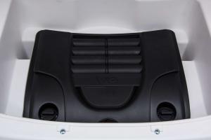 Masinuta electrica Premier Range Rover Vogue HSE, 12V, 2 locuri, roti cauciuc EVA, scaun piele ecologica, alb27