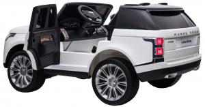 Masinuta electrica Premier Range Rover Vogue HSE, 12V, 2 locuri, roti cauciuc EVA, scaun piele ecologica, alb10
