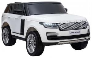 Masinuta electrica Premier Range Rover Vogue HSE, 12V, 2 locuri, roti cauciuc EVA, scaun piele ecologica, alb7