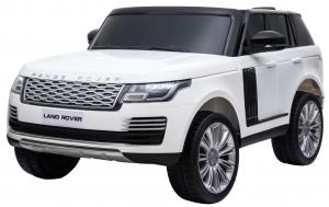 Masinuta electrica Premier Range Rover Vogue HSE, 12V, 2 locuri, roti cauciuc EVA, scaun piele ecologica, alb0