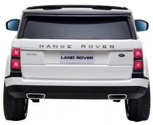 Masinuta electrica Premier Range Rover Vogue HSE, 12V, 2 locuri, roti cauciuc EVA, scaun piele ecologica, alb5