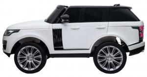 Masinuta electrica Premier Range Rover Vogue HSE, 12V, 2 locuri, roti cauciuc EVA, scaun piele ecologica, alb3