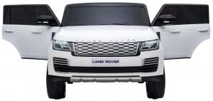 Masinuta electrica Premier Range Rover Vogue HSE, 12V, 2 locuri, roti cauciuc EVA, scaun piele ecologica, alb8