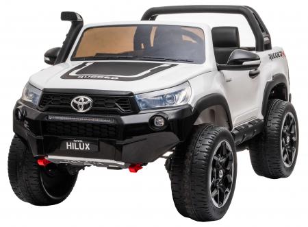 Masinuta electrica SUV Premier Toyota Hilux, 12V, 4x4, roti cauciuc EVA, scaun piele ecologica, alb [0]