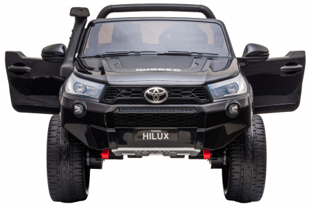 Masinuta electrica SUV Premier Toyota Hilux, 12V, 4x4, roti cauciuc EVA, scaun piele ecologica, negru [6]