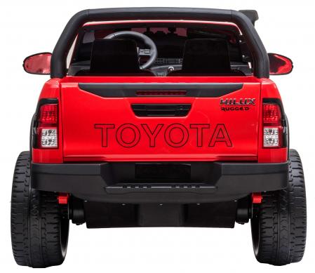 Masinuta electrica SUV Premier Toyota Hilux, 12V, 4x4, roti cauciuc EVA, scaun piele ecologica, rosu [4]