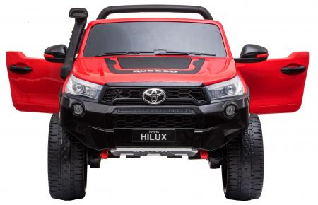 Masinuta electrica SUV Premier Toyota Hilux, 12V, 4x4, roti cauciuc EVA, scaun piele ecologica, rosu [6]