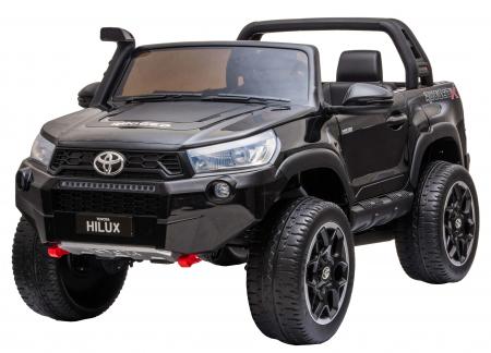 Masinuta electrica SUV Premier Toyota Hilux, 12V, 4x4, roti cauciuc EVA, scaun piele ecologica, negru [0]