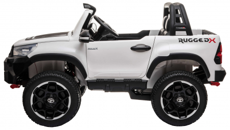 Masinuta electrica SUV Premier Toyota Hilux, 12V, 4x4, roti cauciuc EVA, scaun piele ecologica, alb [2]