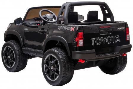 Masinuta electrica SUV Premier Toyota Hilux, 12V, 4x4, roti cauciuc EVA, scaun piele ecologica, negru [3]