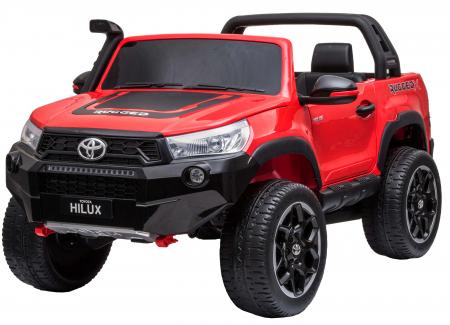 Masinuta electrica SUV Premier Toyota Hilux, 12V, 4x4, roti cauciuc EVA, scaun piele ecologica, rosu [0]
