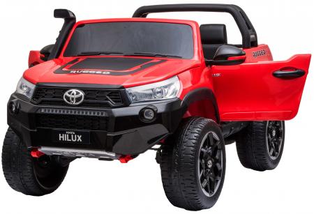 Masinuta electrica SUV Premier Toyota Hilux, 12V, 4x4, roti cauciuc EVA, scaun piele ecologica, rosu [7]