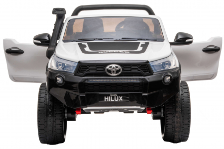 Masinuta electrica SUV Premier Toyota Hilux, 12V, 4x4, roti cauciuc EVA, scaun piele ecologica, alb [4]