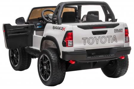 Masinuta electrica SUV Premier Toyota Hilux, 12V, 4x4, roti cauciuc EVA, scaun piele ecologica, alb [5]