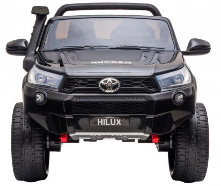 Masinuta electrica SUV Premier Toyota Hilux, 12V, 4x4, roti cauciuc EVA, scaun piele ecologica, negru [1]