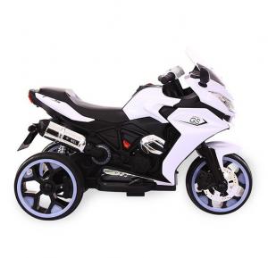 Motocicleta electrica cu 3 roti Premier Sport, 6V, 2 motoare, MP3, alb [2]