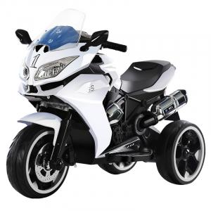 Motocicleta electrica cu 3 roti Premier Sport, 6V, 2 motoare, MP3, alb [0]