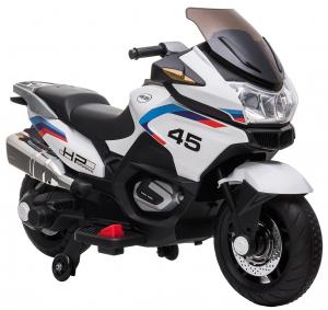 Motocicleta electrica cu 2 roti Premier Flash, 12V, roti cauciuc EVA, MP3, alba [12]