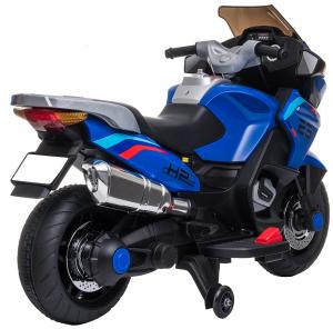 Motocicleta electrica cu 2 roti Premier Flash, 12V, roti cauciuc EVA, MP3, albastra [13]