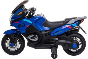 Motocicleta electrica cu 2 roti Premier Flash, 12V, roti cauciuc EVA, MP3, albastra [6]