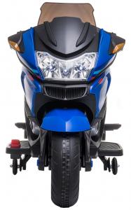 Motocicleta electrica cu 2 roti Premier Flash, 12V, roti cauciuc EVA, MP3, albastra [10]