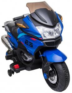 Motocicleta electrica cu 2 roti Premier Flash, 12V, roti cauciuc EVA, MP3, albastra [20]