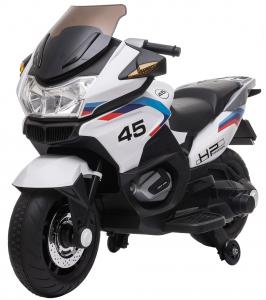 Motocicleta electrica cu 2 roti Premier Flash, 12V, roti cauciuc EVA, MP3, alba [1]