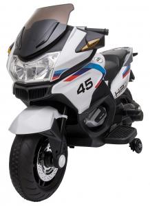Motocicleta electrica cu 2 roti Premier Flash, 12V, roti cauciuc EVA, MP3, alba [16]