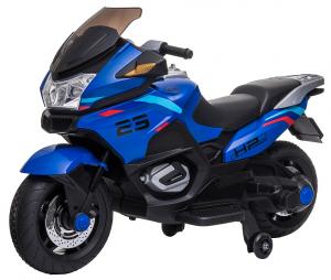 Motocicleta electrica cu 2 roti Premier Flash, 12V, roti cauciuc EVA, MP3, albastra [5]