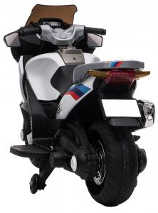 Motocicleta electrica cu 2 roti Premier Flash, 12V, roti cauciuc EVA, MP3, alba [7]
