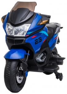 Motocicleta electrica cu 2 roti Premier Flash, 12V, roti cauciuc EVA, MP3, albastra [2]