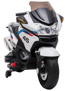 Motocicleta electrica cu 2 roti Premier Flash, 12V, roti cauciuc EVA, MP3, alba [14]