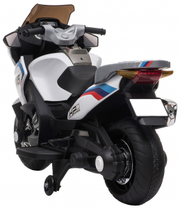 Motocicleta electrica cu 2 roti Premier Flash, 12V, roti cauciuc EVA, MP3, alba [6]