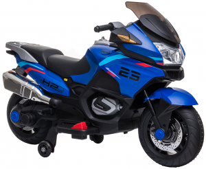 Motocicleta electrica cu 2 roti Premier Flash, 12V, roti cauciuc EVA, MP3, albastra [15]