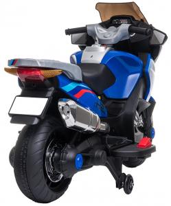 Motocicleta electrica cu 2 roti Premier Flash, 12V, roti cauciuc EVA, MP3, albastra [12]
