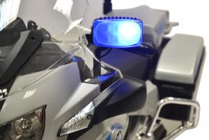 Motocicleta electrica de politie Premier BMW R1200 RT-P, 12V, girofar si sunete, roti ajutatoare2