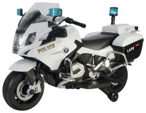 Motocicleta electrica de politie Premier BMW R1200 RT-P, 12V, girofar si sunete, roti ajutatoare0