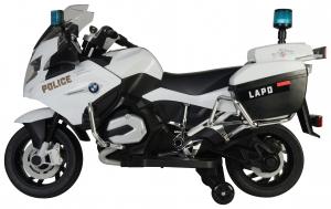 Motocicleta electrica de politie Premier BMW R1200 RT-P, 12V, girofar si sunete, roti ajutatoare3