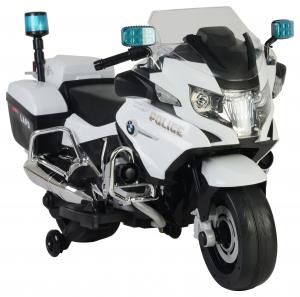 Motocicleta electrica de politie Premier BMW R1200 RT-P, 12V, girofar si sunete, roti ajutatoare6