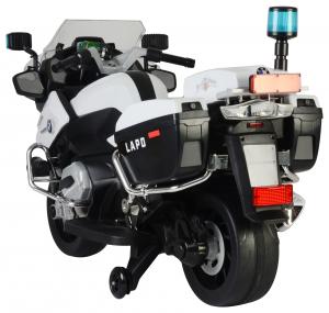 Motocicleta electrica de politie Premier BMW R1200 RT-P, 12V, girofar si sunete, roti ajutatoare4