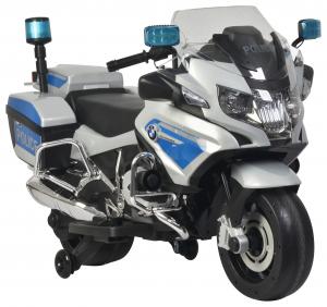 Motocicleta electrica de politie Premier BMW R1200 RT-P, 12V, girofar si sunete, roti ajutatoare1