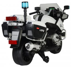 Motocicleta electrica de politie Premier BMW R1200 RT-P, 12V, girofar si sunete, roti ajutatoare5